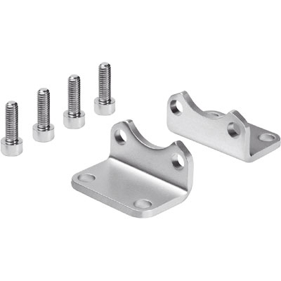 Corrosion Resistant Foot Mounting CRHNC For DSBC ISO 15552 Cylinders
