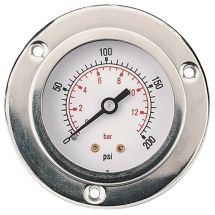 Flange Type Pressure Gauges, Centre Back Connection