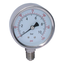 All Stainless Steel Dry Gauges, Bottom Connection