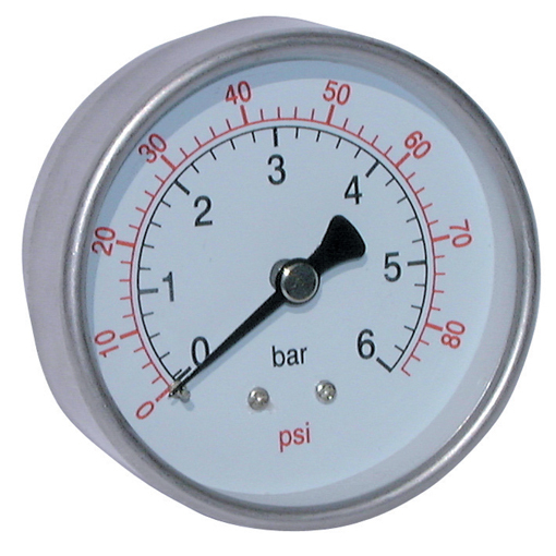 All Stainless Steel Dry Gauges, Centre Back Connection