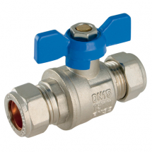 Compression Ball Valves, Brass, Butterfly Handles