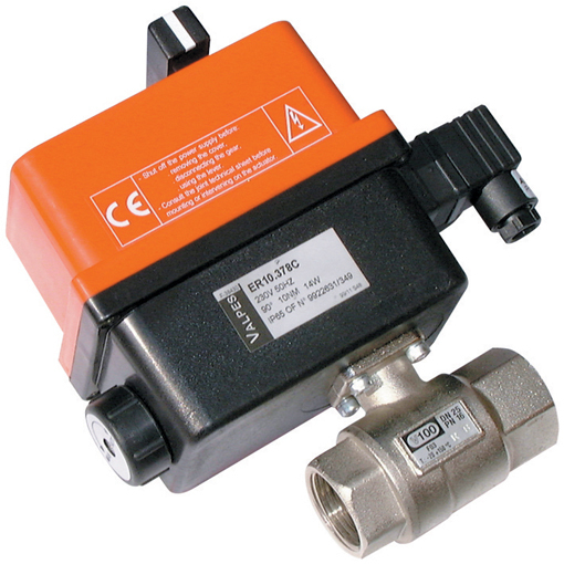 Electrically Actuated, 2 Way Brass Ball Valves