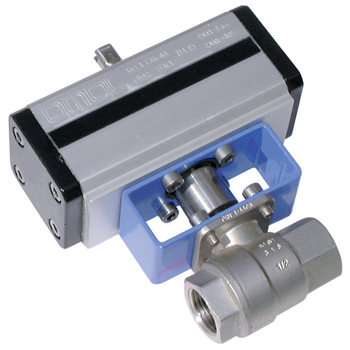Stainless Steel Ball Valves, 2 Way Pneumatic Actuation, High Pressure