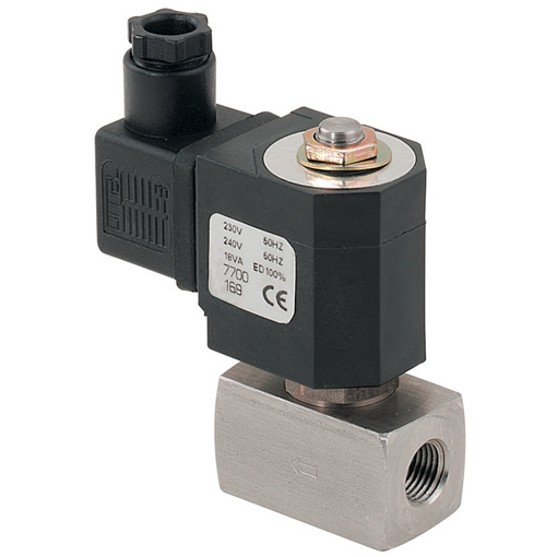 Stainless Steel 2/2 N/C Direct Acting Solenoid Valves