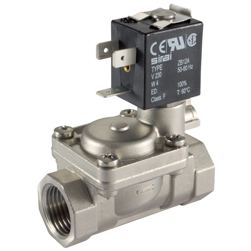 Stainless Steel 2/2 N/O, Pilot Operated Solenoid Valves