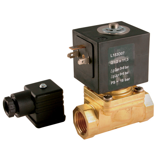 Steam & Hot Water 2/2 N/C, Direct Acting Solenoid Valves