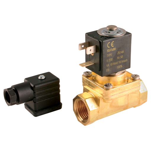 Steam & Hot Water 2/2 N/C, Pilot Operated Solenoid Valves