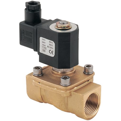 Steam/Water 2/2 N/C Pilot Operated Solenoid Valves