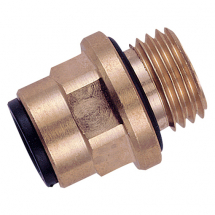 John Guest Brass Straight Adaptor
