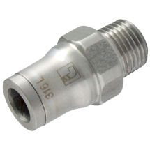 LF3800 Push-in Fittings, Stainless Steel