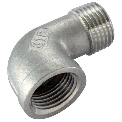 "SE-18 St.Steel Elbow 90 1/8"" B"