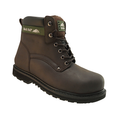 RF59101BK Rockfall Goodyear Welted Safety Boots - Black