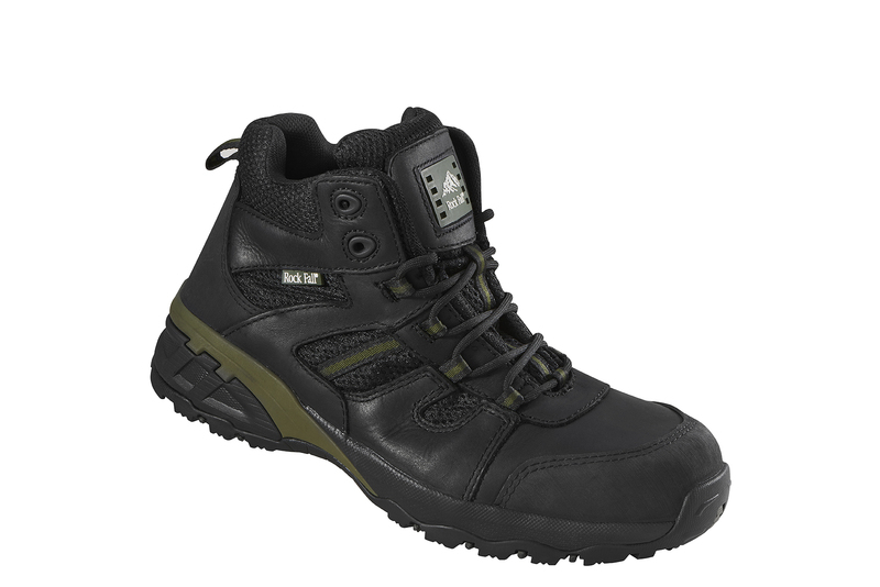 RF0007 Rockfall Marble Composite Safety Hiker Boots - Black/Green