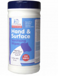 ALCOHOL HAND AND SURFACE WIPES 200PCS TUB