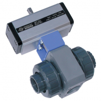 PVC Ball Valves, Pneumatic Actuation